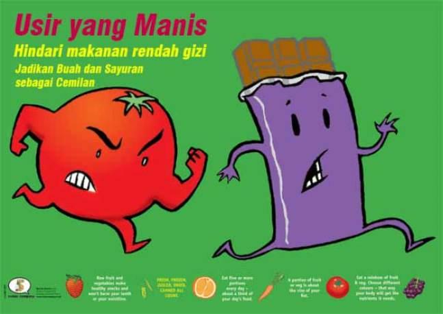 iklan makanan sehat dan bergizi