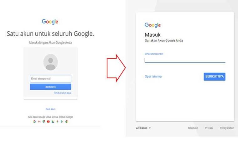 Halaman Login Google Yang Baru
