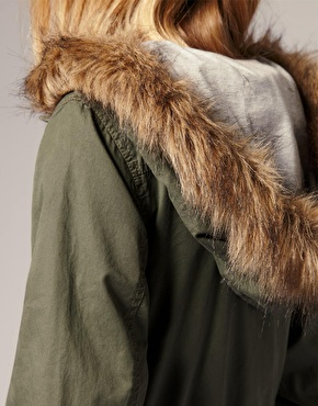 Faux 'raccoon' fur