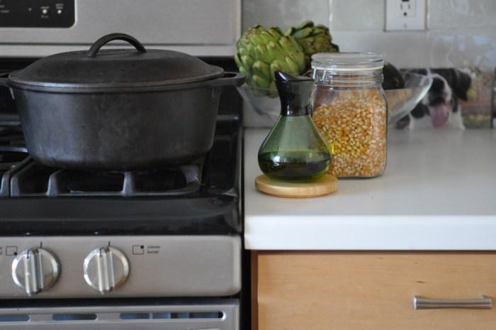 Preparing to Pop Corn