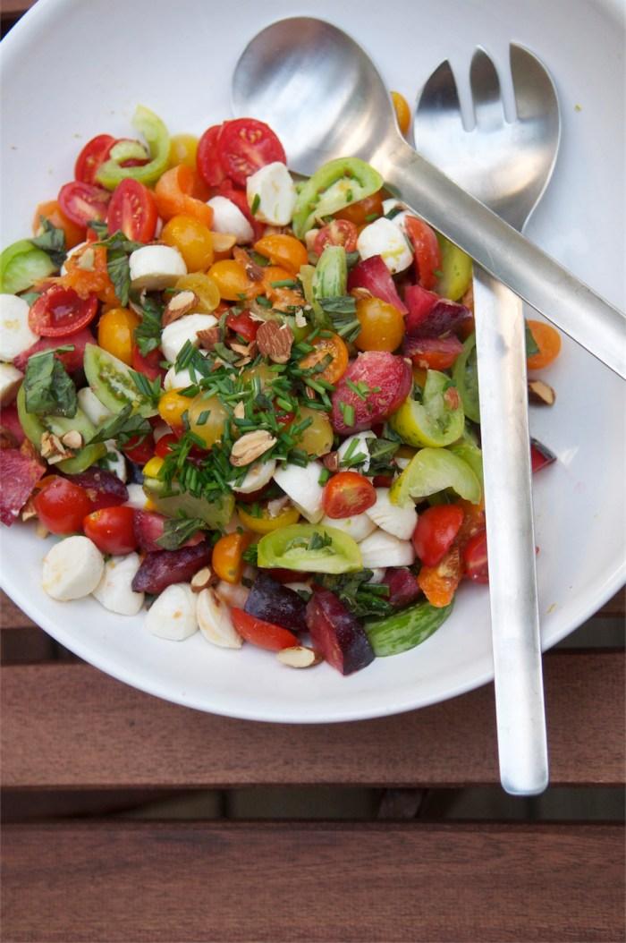 Heirloom Tomatoes + Roasted Plums