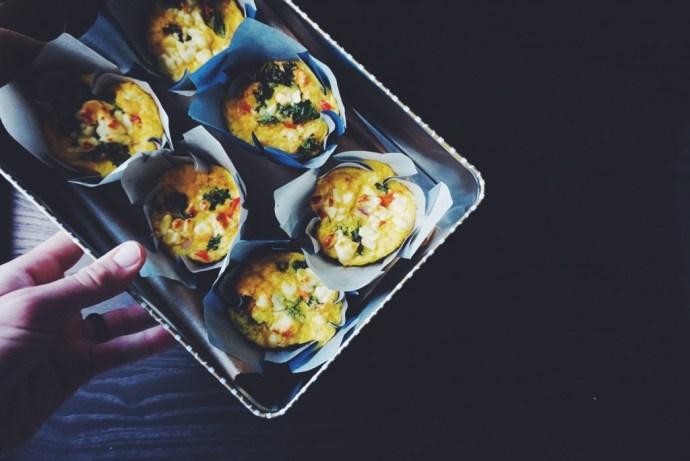Red Pepper + Feta Frittata Muffins