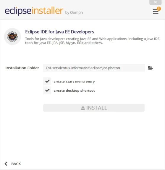 installazione eclipse