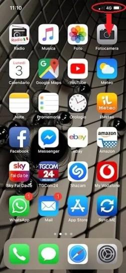 percentuale batteria iphone