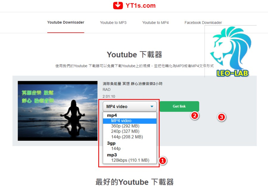 3.Youtube Downloader Select Type