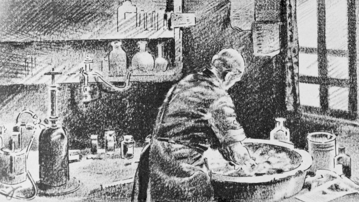 Ignaz Semmelweis in his lab.