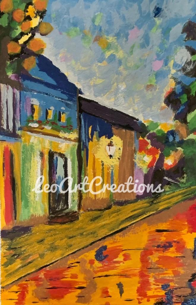 Impressionist Caribbean Nights Leo Art Creations