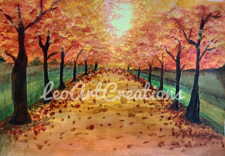 Landscape Featured Painting, Leo Art Creations