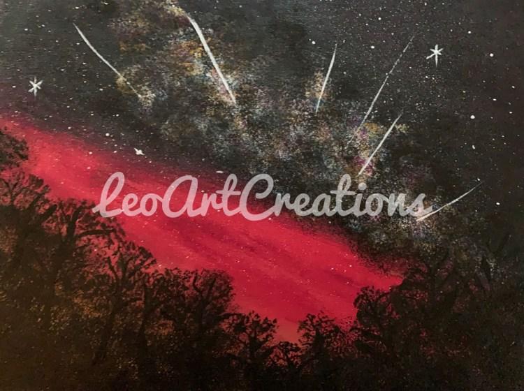 Landscape Shooting Stars Leo Art Creations