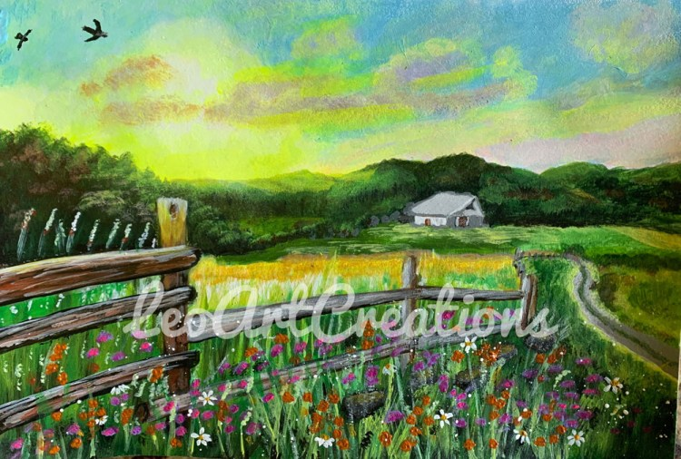 Landscape Summer in the Country Leo Art Creations