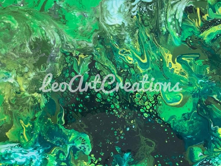 Abstract Alligators in the Marsh Leo Art Creations