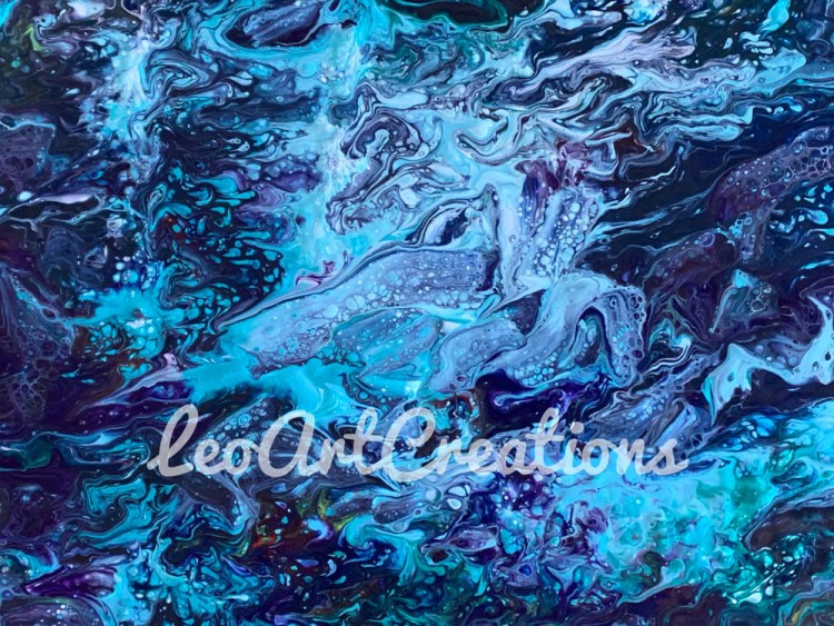 Abstract Monsters of the Sea Leo Art Creations