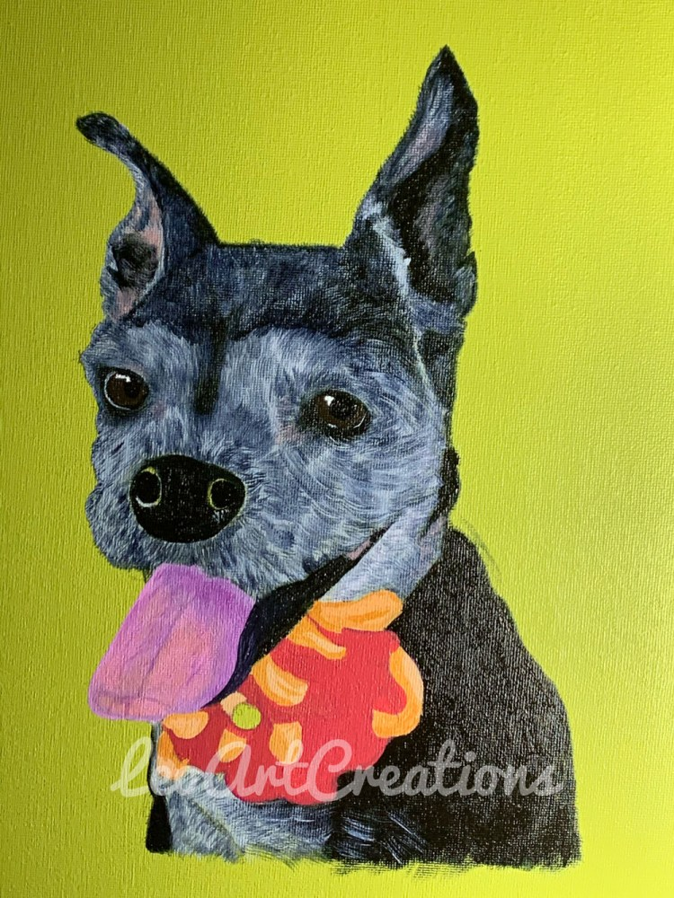 Pet Portrait Patches Leo Art Creations