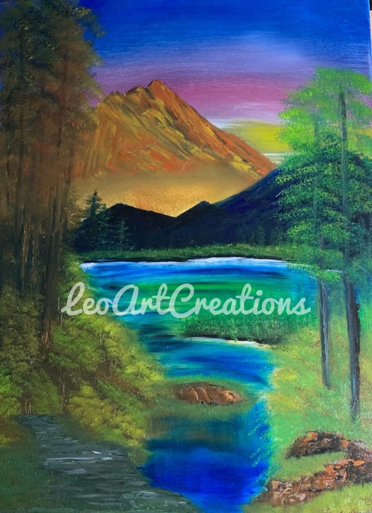 Landscape Mountains Leo Art Creations