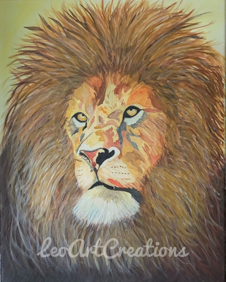 Leo the Lion Leo Art Creations