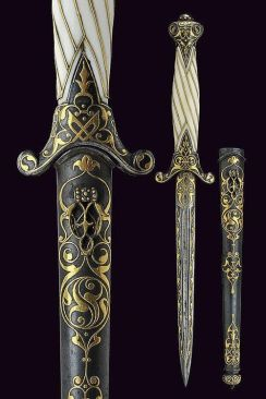 A small Russian dagger from the 19th Century; image from Pinterest