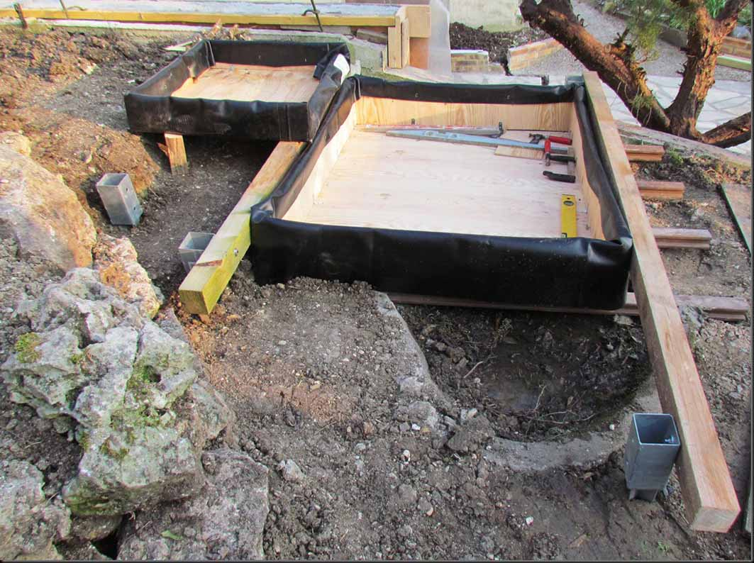 Construire un bassin horssol avec dversoir dans une rocaille  Au jardin de Mo et Marc