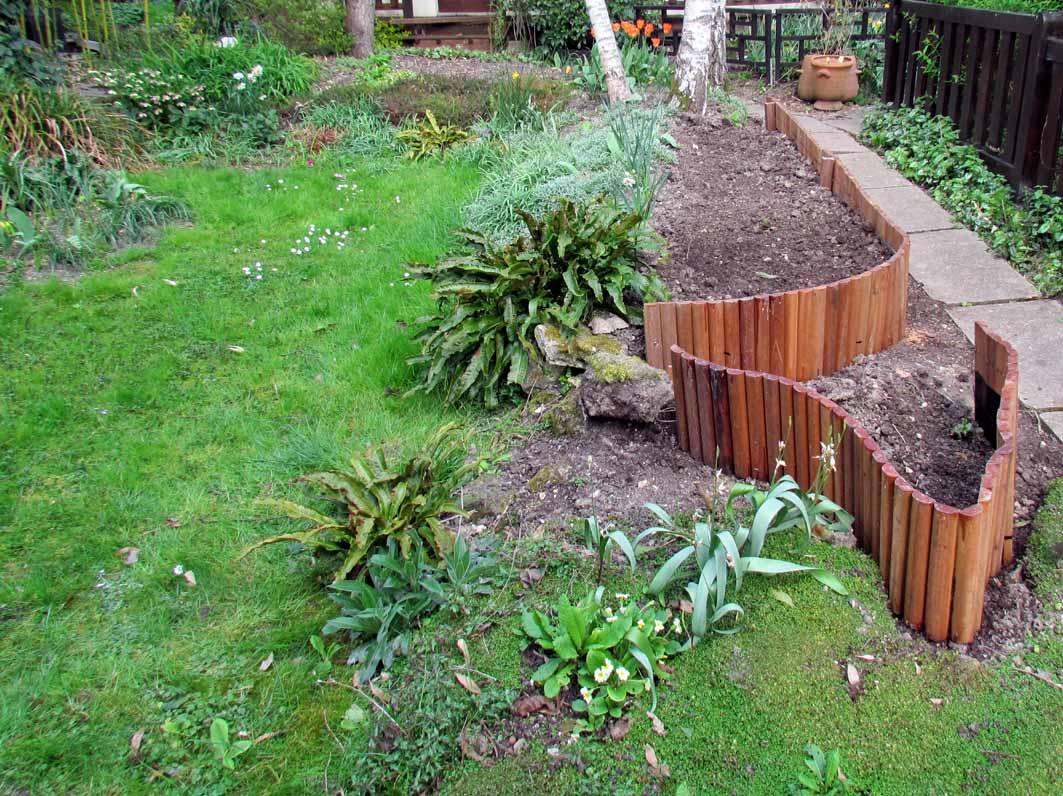 Bordure Jardin Bois Tresse | Chapeau Muret Dalle Ardoise
