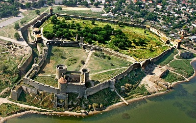Belgorod Dnestrovsky fortress from air