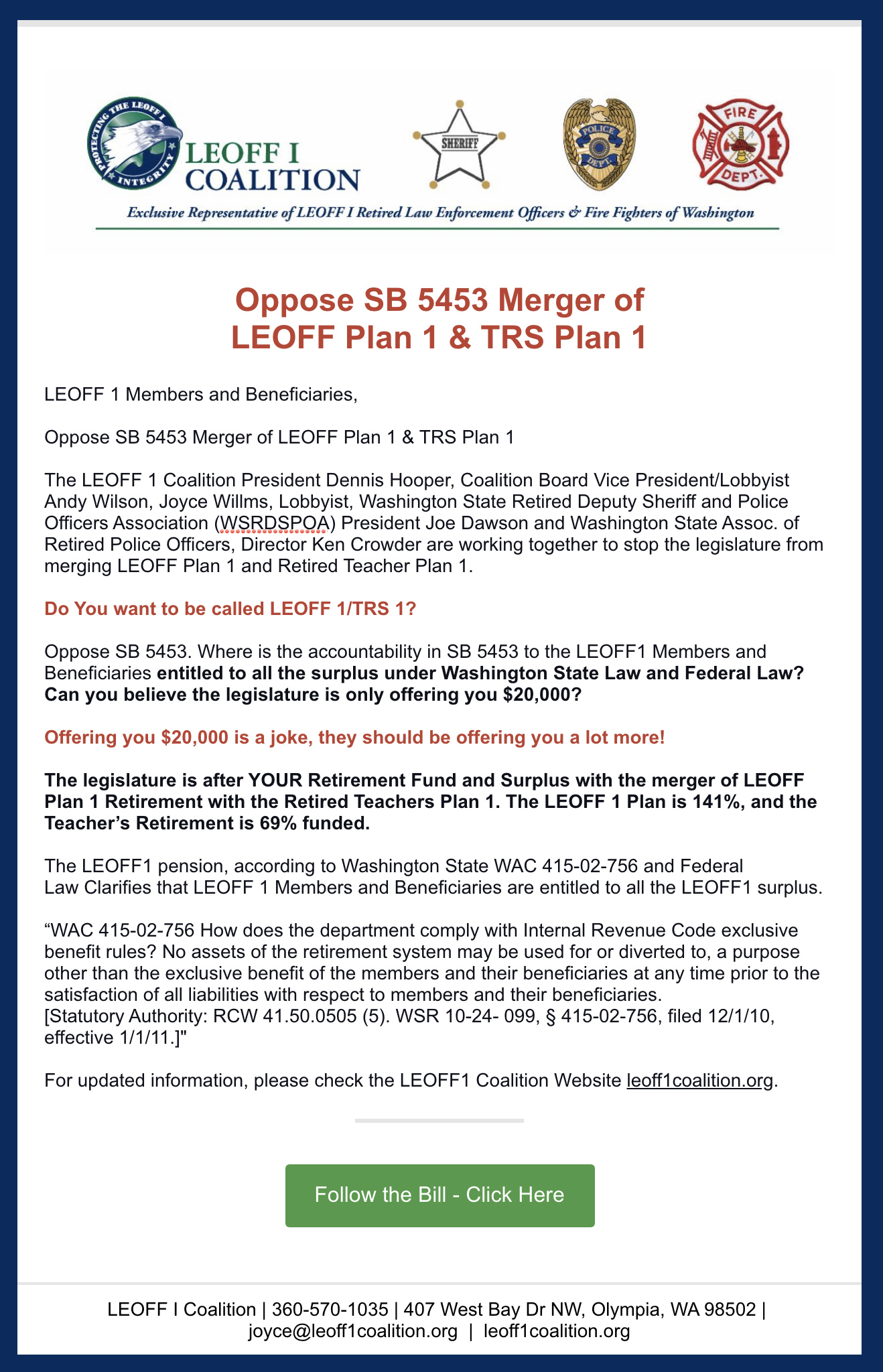 Code Nw 1 1000 : LEOFF, Coalition,, Enforcement, Officers, Fighters,, Washington,