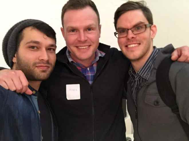 From Left: Leo Gopal (me), Mark Forrester (co-founder of WooThemes), Richard Miles.