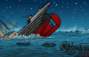 The Sinking of the Titanic illustrated by Leo Hartas