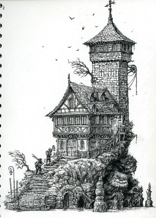Old_Tower_Leo_Hartas_Illustration