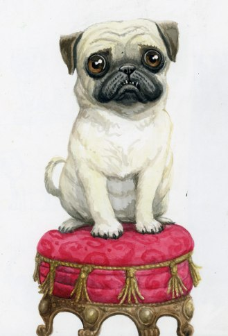 Pug-Dog - Leo Hartas Illustration