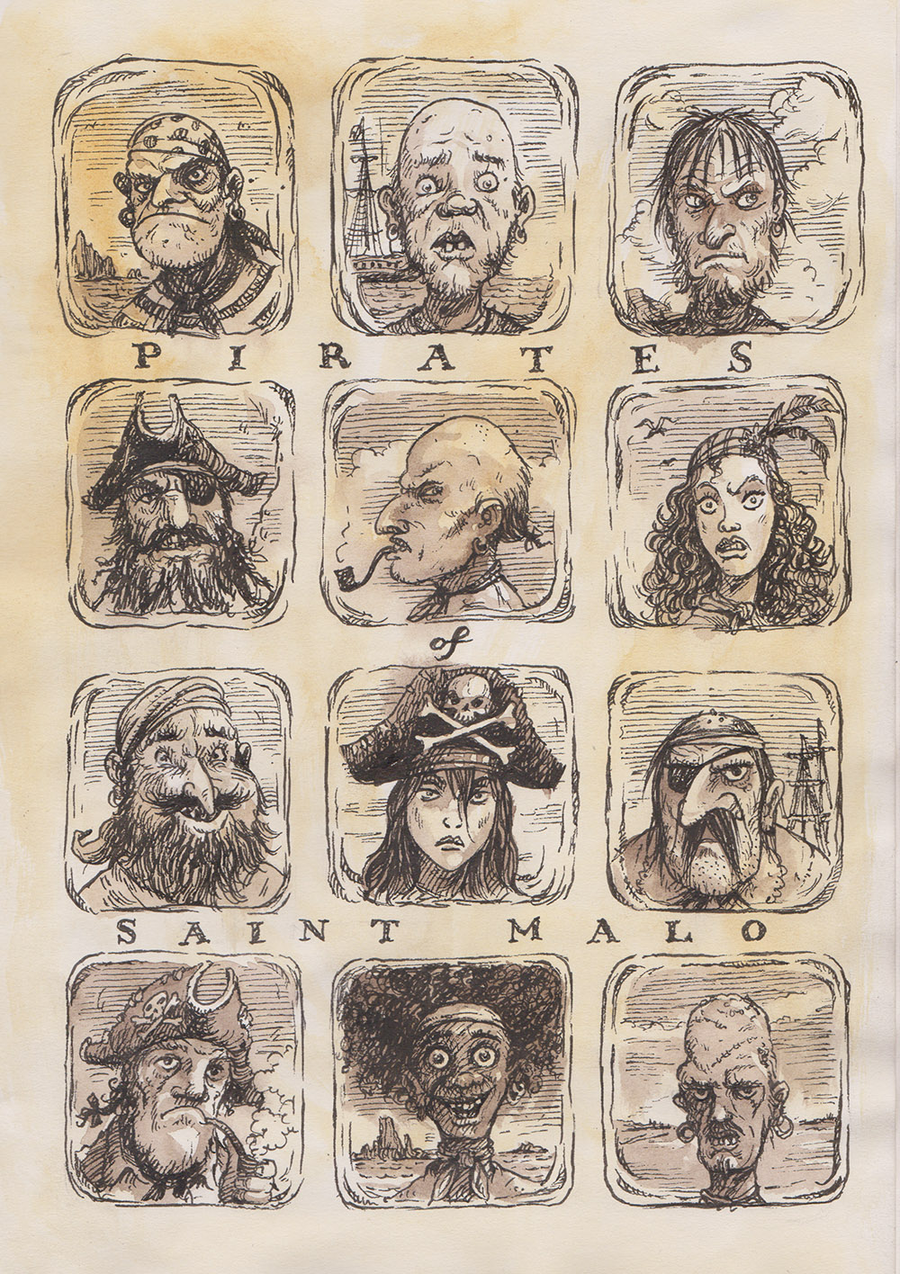 Pirates of St. Malo - Leo Hartas illustration