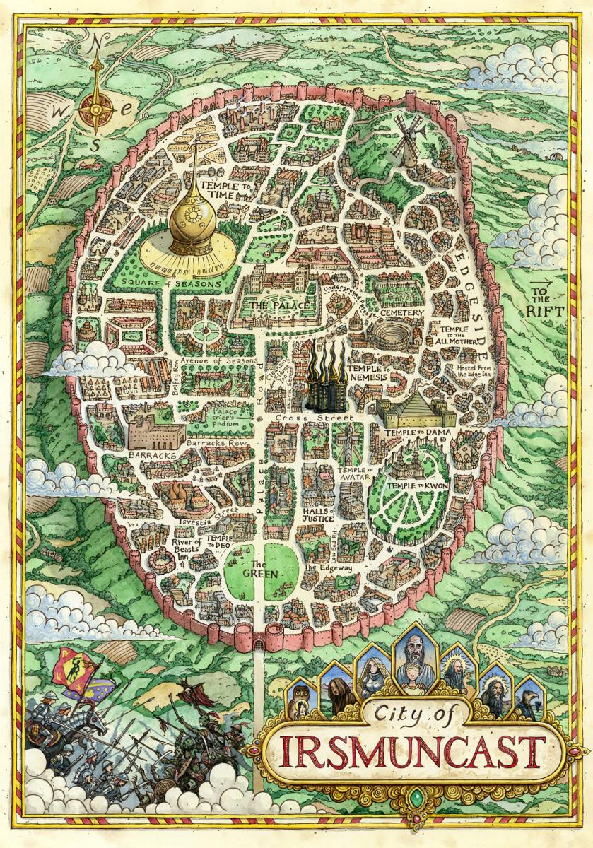 City Map Fantasy : fantasy, Irsmuncast, Fantasy, Hartas