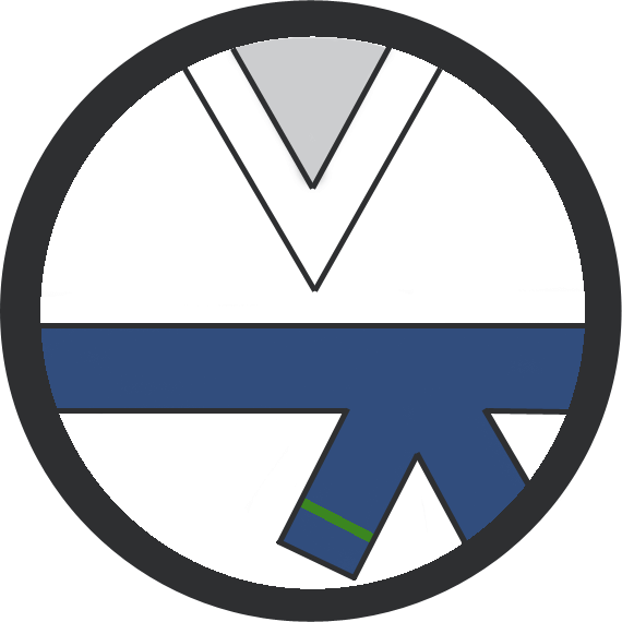 Leominster Martial Arts Blue Belt 1 Green stripe icon