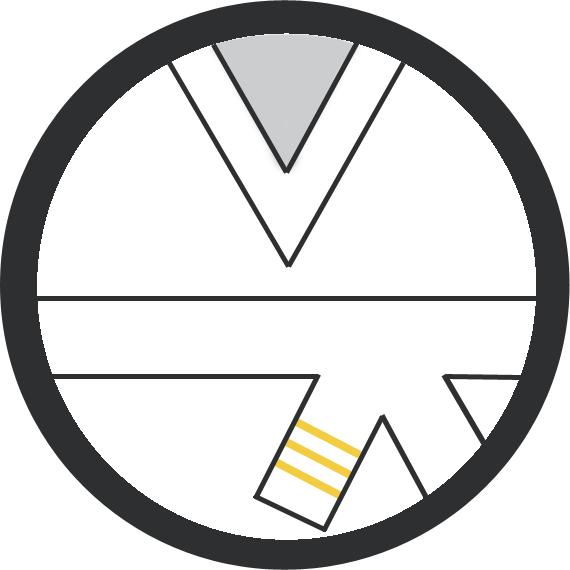 Leominster Martial Arts White Belt 3 yellow stripe icon