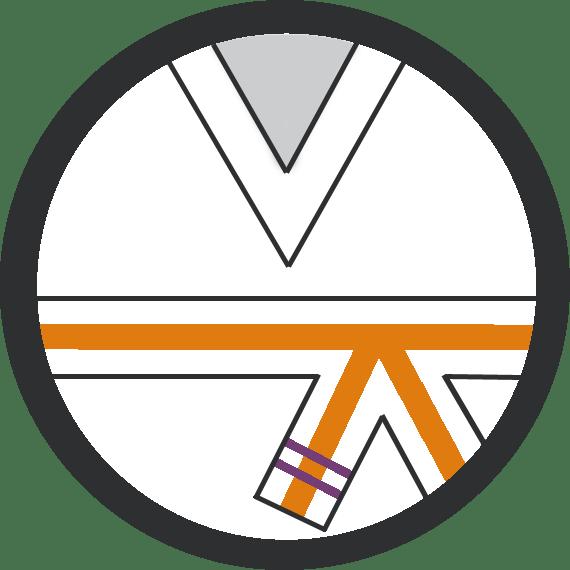 Leominster Martial Arts_Rank Orange Middle 2 Purple Stripes