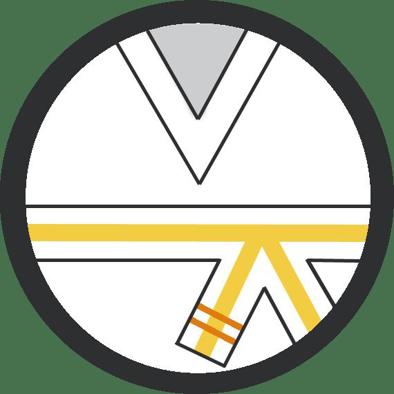 Leominster Martial Arts_Rank_Yellow Middle 2 Orange