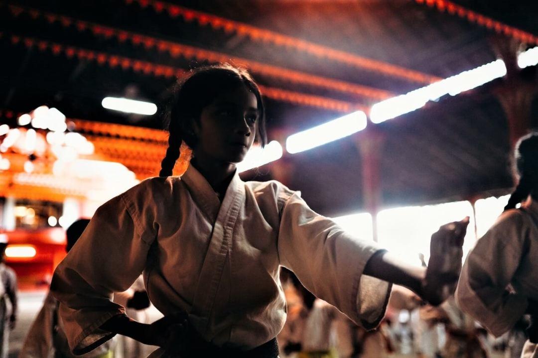 female martial arts student