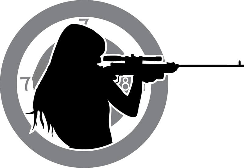 Leominster Firearms_Woman aiming rifle silhouette