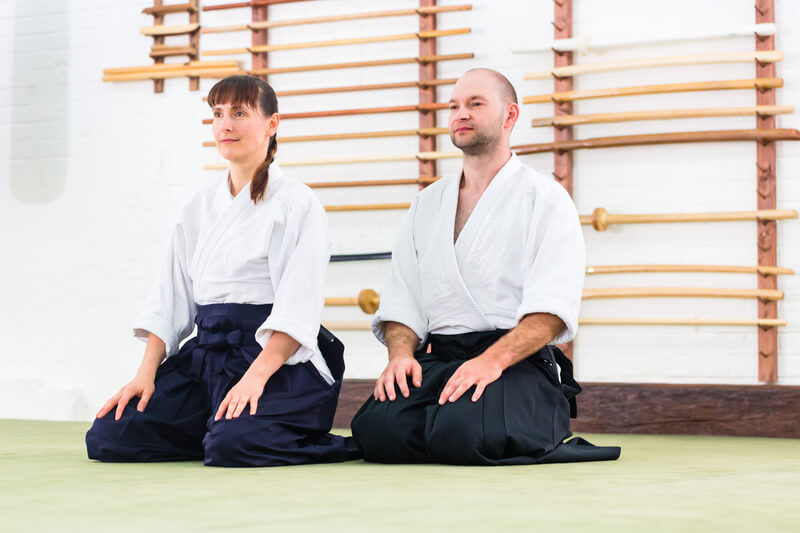Leominster Martial Arts_Male and Female_Aikido kneeling