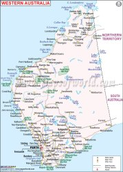 western australia map road perth maps travel australian trip broome south towns cities showing roads mapsofworld beach geography state july