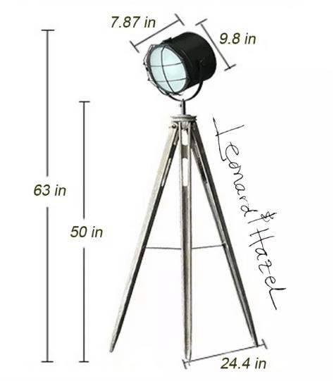 Tripod Floor Lamp dimensions
