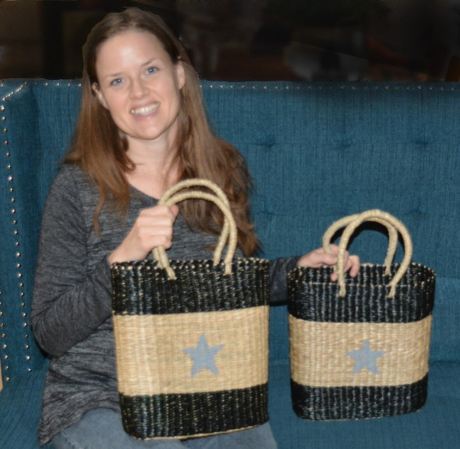 woman holding Star Baskets