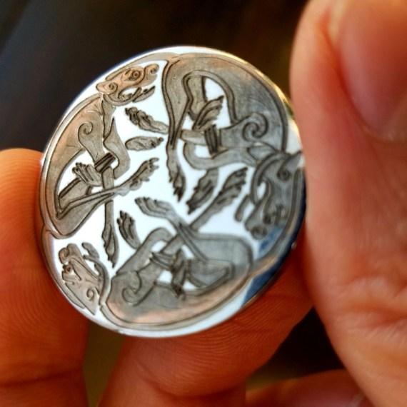 Engraved Half Dollar Coin