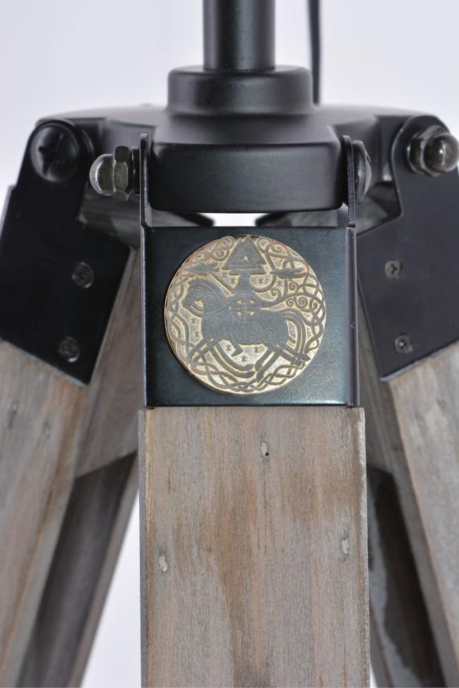 Oden Viking flare - tripod desk lamp tripod floor lamp - detail
