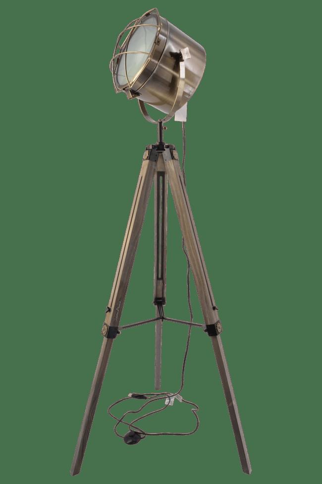 Valhalla Illuminator™ Adjustable Tripod Lamp w: 360º Swivel Searchlight-Floor Lamp Bronze