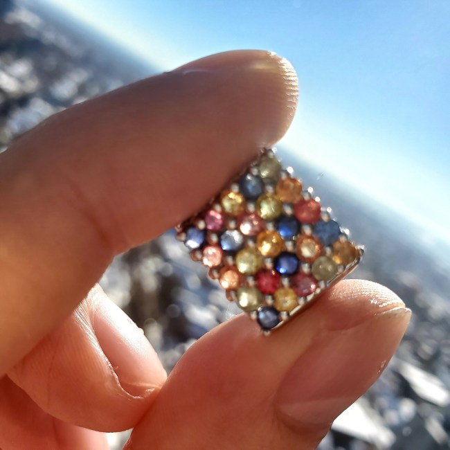 Multi-colored Pove Fancy Songea Sapphire Ring