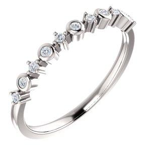 14K White Gold 1/10 CTW Diamond Ring from Leonard & Hazel™
