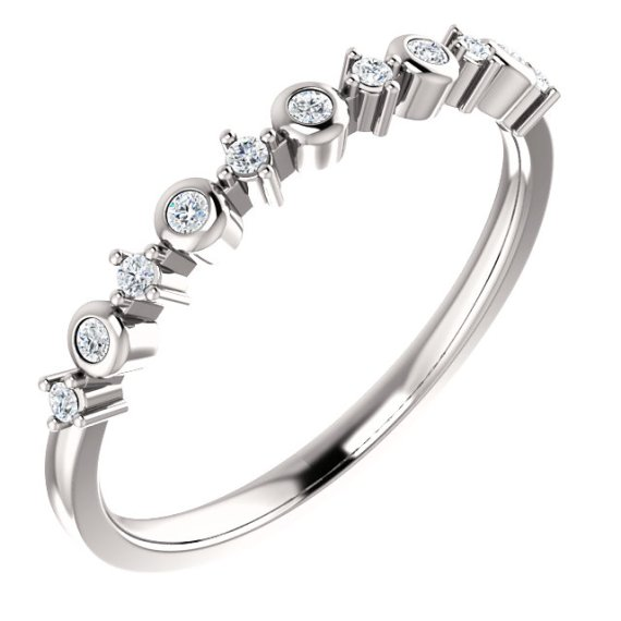 14K White Gold 1/10 CTW Diamond Ring from Leonard & Hazel™