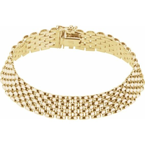 14K Yellow 10.25 mm Panther 7 Bracelet from Leonard & Hazel™