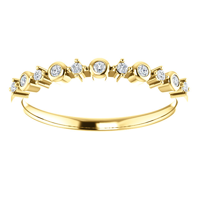 14K Yellow Gold 1/10 CTW Diamond Ring from Leonard & Hazel™
