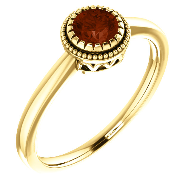 "14K Yellow Gold Garnet ""January"" Birthstone Ring from Leonard & Hazel™"