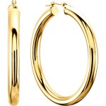 14K Yellow Tube Hoop Earrings from Leonard & Hazel™